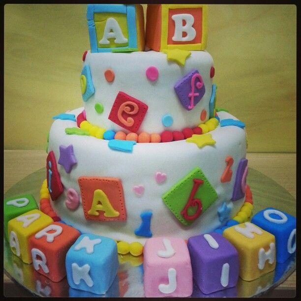 Alphabets birthday cake