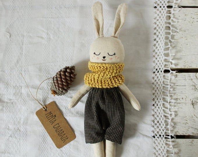 Crochet rabbit doll Crochet bunny toy Stuffed rabbit Bunny toy gift Bunny plush Soft rabbit doll Woodland animal toy Organic soft toy