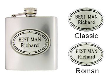 A 6oz custom engraved monogram Best Man flask! Create your own flask just like this.