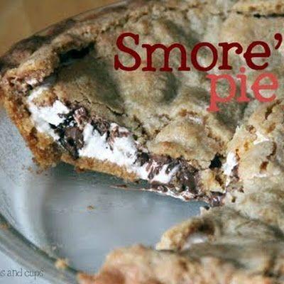 Smores Pie @keyingredient #smores #pie #chocolate