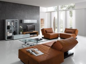 confetto ffertig contemporary living room. Grey Living Room Brown Leather Sofa Interior Desing Confetto Ffertig Contemporary