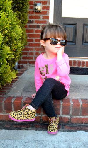 Toddler fashion.  A tiny fashionista rocking CrewCuts, Toms, and teeny wayfarers!