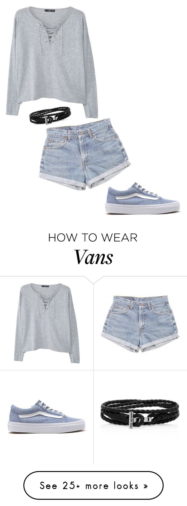 """."" by marsophie on Polyvore featuring Vans, Levi's and MANGO"