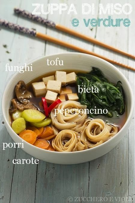 zucchero e viole vegetarian-vegan blog: Zuppa di miso e verdure