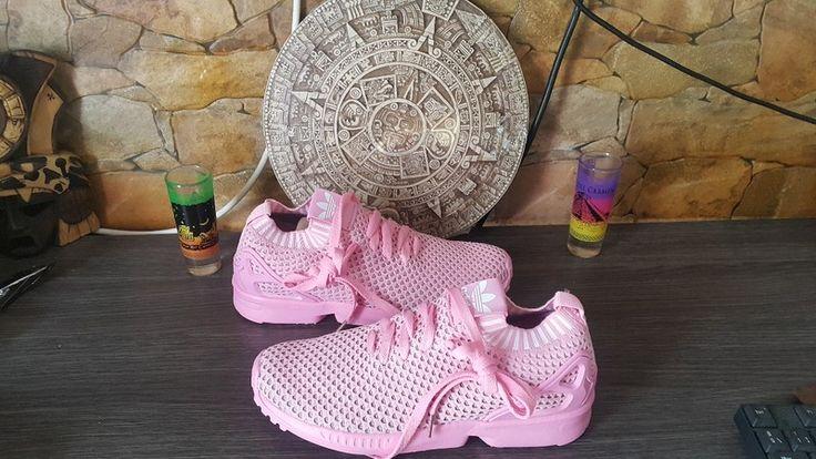 Zapatillas deportivas Adidas Rosas de tela fina .