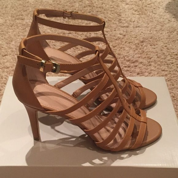 NEW Classic Strappy Sandals Heels New, with box from full line store (not factory BR). Size 9. Banana Republic Shoes Heels