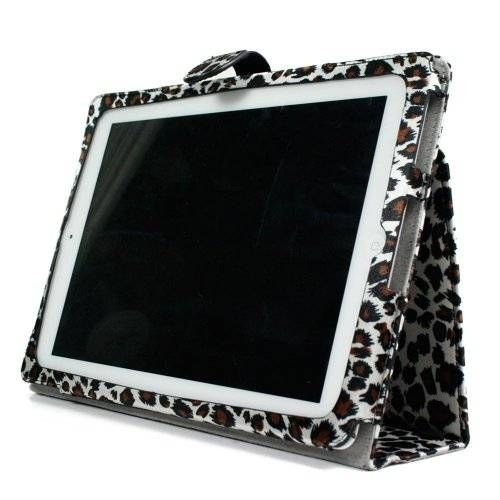 cool - EXOTIC Leopard Pattern Form-Fitting Accessory Cover Bag Folio Carrying Case for WiFi 3G 16GB 32GB 64GB Apple iPad 2 {+ 1pc name tag} -- Best Seller on Amazon!