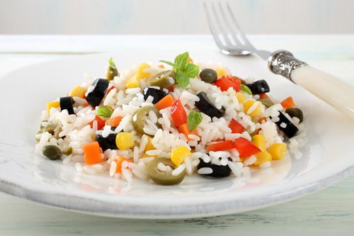 Traditional Italian Rice Salad with Vegetables (Insalata di Riso con Verdure) | Enjoy this authentic Italian recipe from our kitchen to yours. Buon Appetito!
