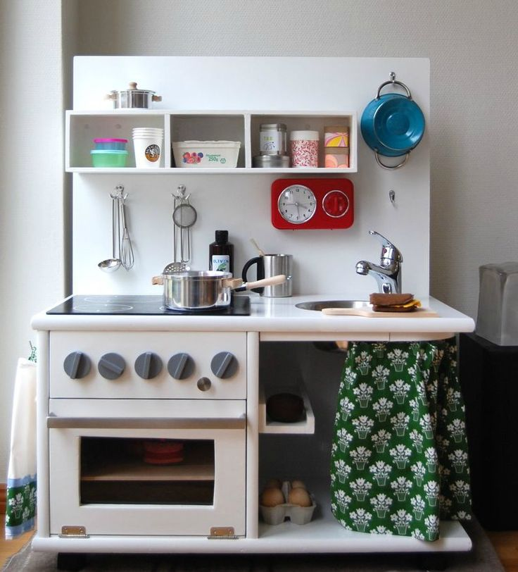146 best diy childrens kitchen play images on pinterest play love love love this old fashioned kitchen diy play kitchen sets from recycled furniture solutioingenieria Images