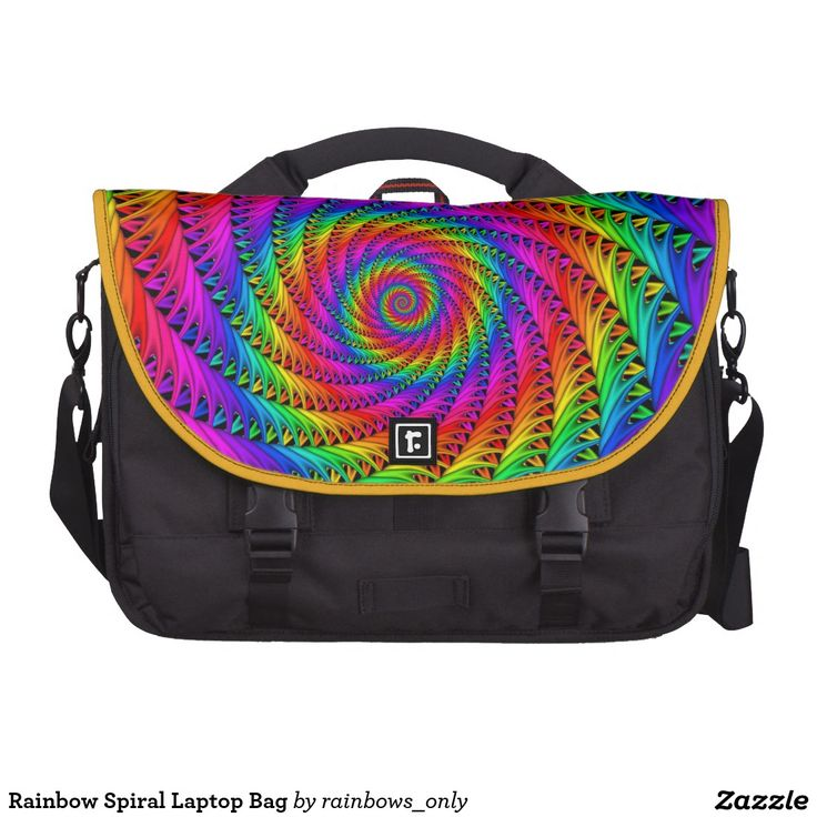Rainbow Spiral Laptop Bag