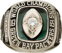 1965 Green Bay Packers NFL Championship Ring Presented to Jerry Kramer