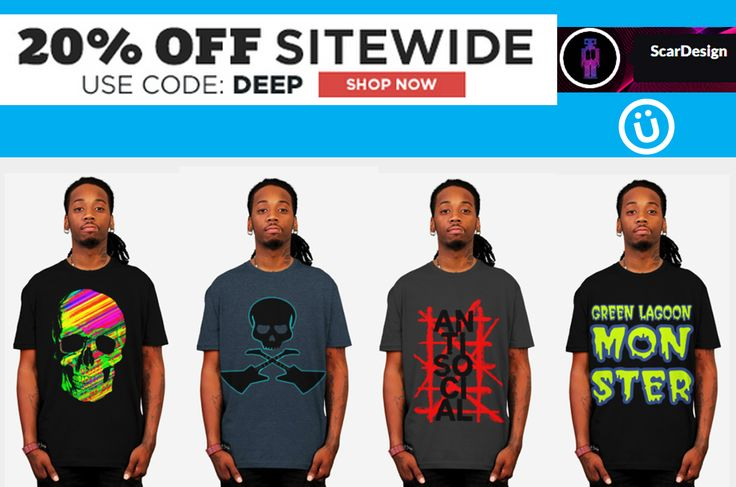 20% OFF on All Products!!  Use code : DEEP. Rock style T-Shirts by Scar Design  #rock #rockclothes #rocktshirts #tshirt  #buyrocktshirts #giftsforhim #giftsforher  #modern #style #badass #skulltshirt #badasstshirts #designbyhumans #designbyhumanstshirts #buycooltshirts #mensfashion #menstshirts #gifts #moderngifts #clothing #giftsforher