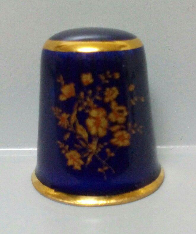 Limoges France. Cobalto floral