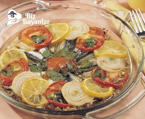 Fırında Hamsi Buğlama Tarifi Bizbayanlar.com  #Balık, #Domates, #Fırın, #Hamsi, #Limon, #Soğan,#BalıkveDenizÜrünleri http://bizbayanlar.com/yemek-tarifleri/et-yemekleri/balik-ve-deniz-urunleri/firinda-hamsi-buglama-tarifi/
