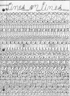 Like to Doodle?  Look at this....create a new type of line pattern on each line.
