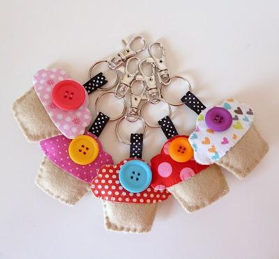 Cute cupcake key rings