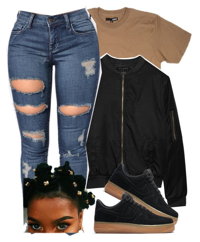 """run it up on em."" by chicbre ❤ liked on Polyvore featuring Alygne and NIKE"