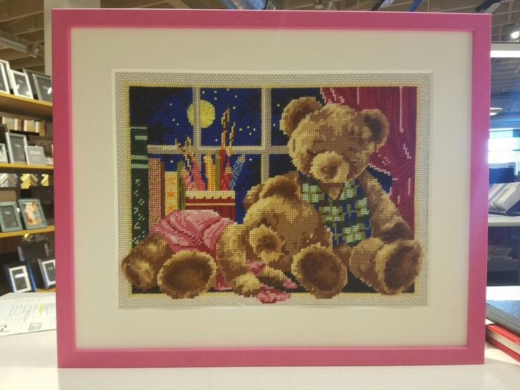 The Cha Cha Pink frame is not keeping these teddies awake. Malecon collection from Bella.