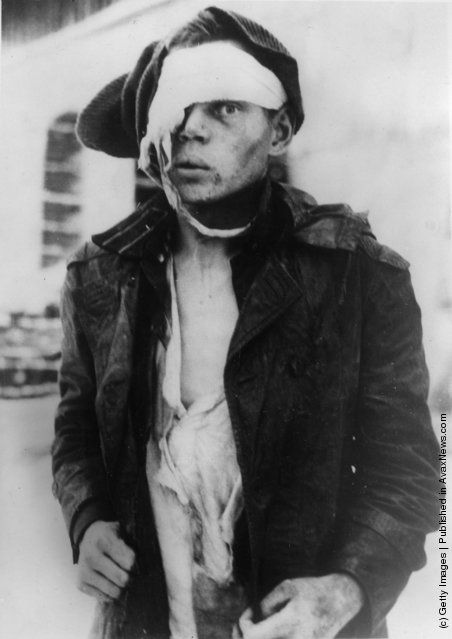 A Soviet lieutenant captured by Finnish soldiers during World War II. He had torn off his officer insignia, thinking that he would be treated better as an ordinary soldier. (Photo by Keystone/Getty Images). January 1940