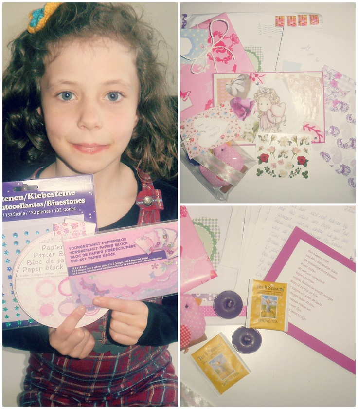 My first received Snailmail from Monique. So super sweet! Happy! <3