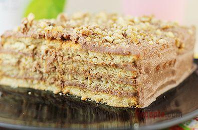 Торт из печенья и творога, без выпечки
