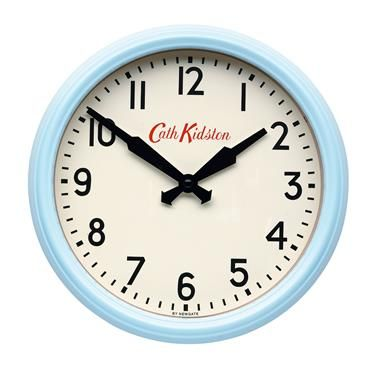 Cath Kidston Enamel Clock  Perfect For Our Future Pastel, Retro Kitchen!