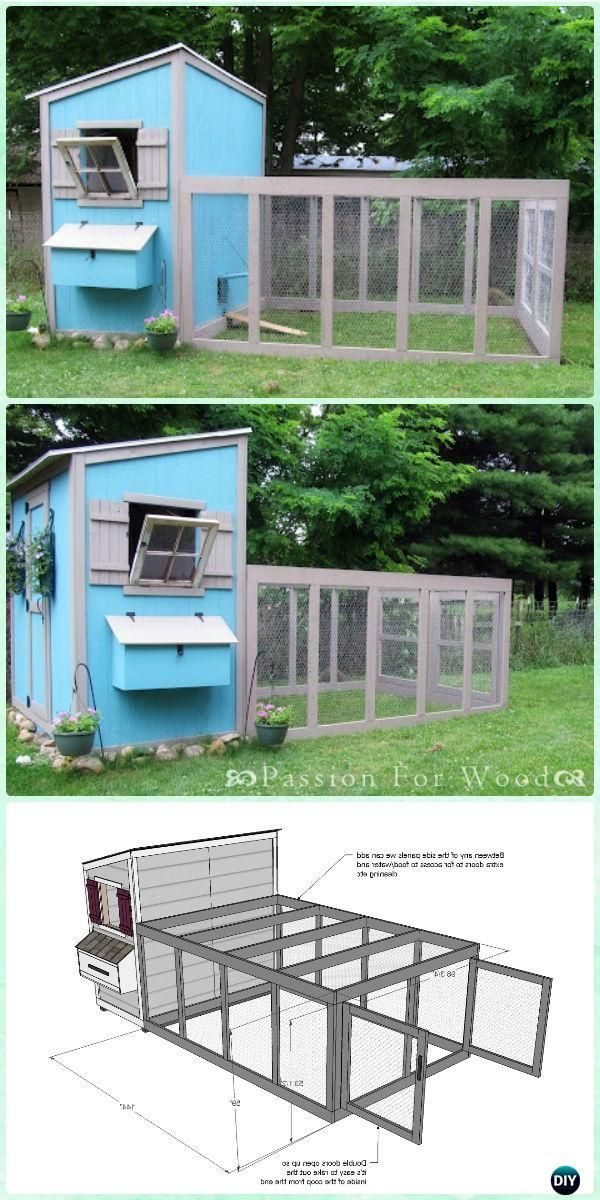 DIY Chicken Coop Run for Shed Coop Free Plan & Instructions - DIY Wood Chicken Coop Free Plans