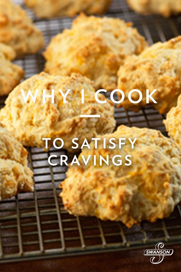 Get every last drop of gravy with a simple biscuit made with cheddar cheese, garlic and Swanson Organic Chicken Broth.