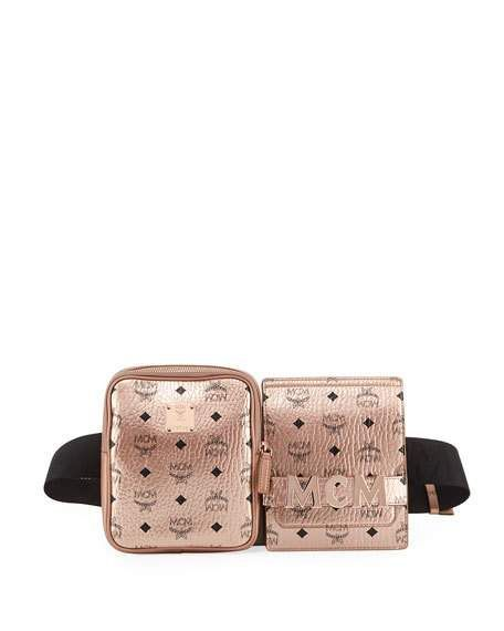 c1834177798a Stark Double Logo Belt Bag by MCM at Neiman Marcus