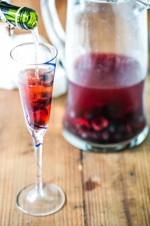 Cherry blueberry sparklers naturally sweet recipe for Cheap fruity mixed drinks