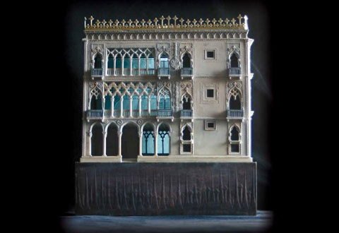 Ca'd'Oro Palace (The House of Gold) model by Timothy Richards