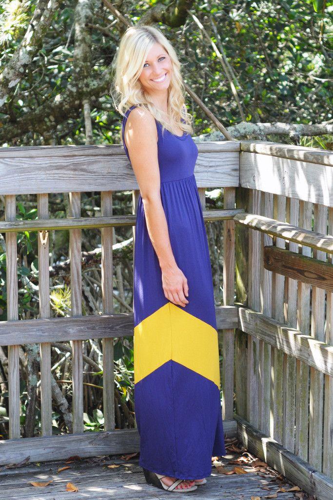 FAIR CATCH PURPLE & GOLD MAXI DRESS - LSU Shop Simply Me Boutique – Simply Me Boutique