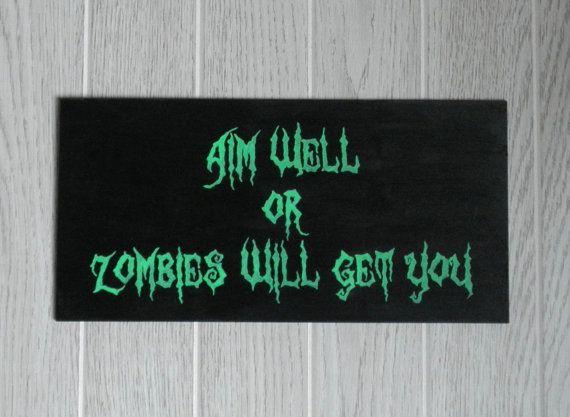 Zombie Bathroom Signs 13 best the boys bathroom images on pinterest | bathroom ideas