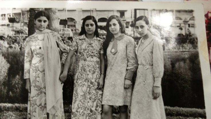 My Aunt's standing for a nice picture together Circa 1970 in Aleppo Syria.