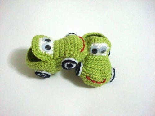 escarpin bebe animales crochet - Buscar con Google