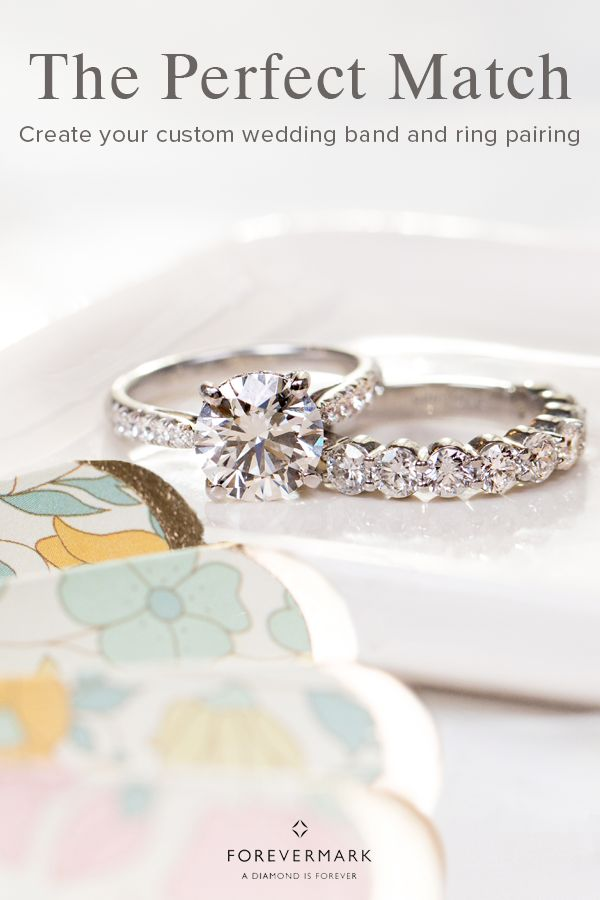 When it comes to your engagement ring and wedding band, they should complement one another – not compete. Find your own unique and everlasting combination at Forevermark today.