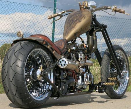 Barbarian Motorcycles   Old School Highneck Chopper Barbarian - Custom Bike - HAMMER