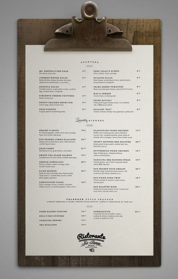 Cool Restaurant Menu Holder Designs