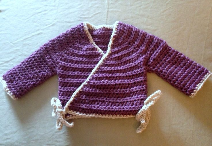 Crochet Baby Kimono Wrap Pattern : 1000+ images about Art/Craft: Yarn & String- Crochet on ...