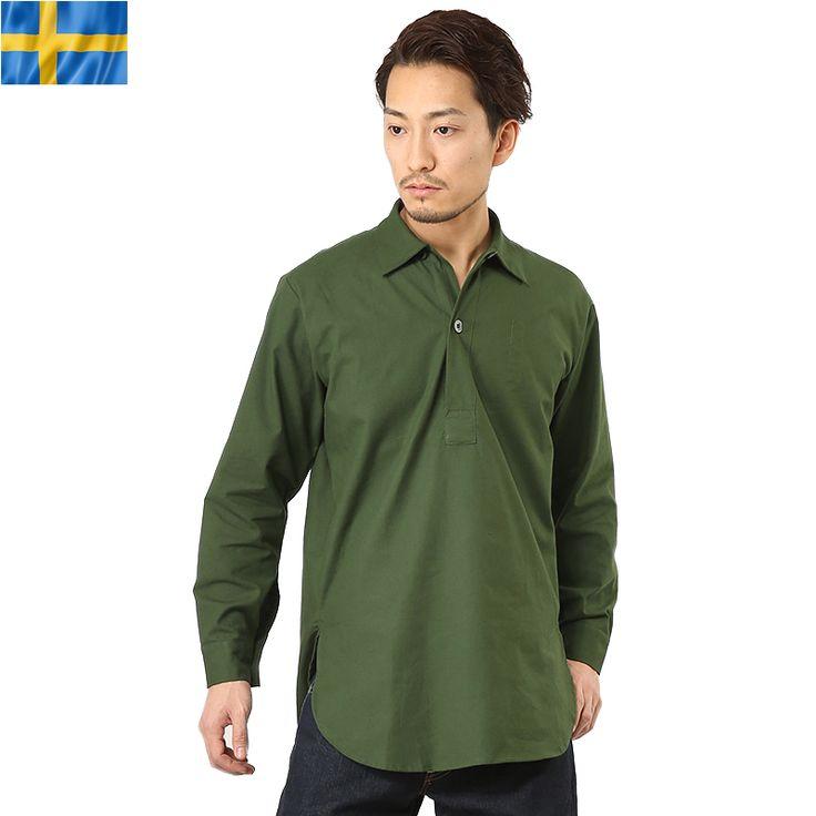 http://item.rakuten.co.jp/auc-waiper/slt072406107/ 実物 新品 スウェーデン軍 M-55プルオーバーシャツ グリーン  #ミリタリーセレクトショップWIP #men's #メンズ #MILITARY #SHIRT #シャツ #長袖 #longsleev