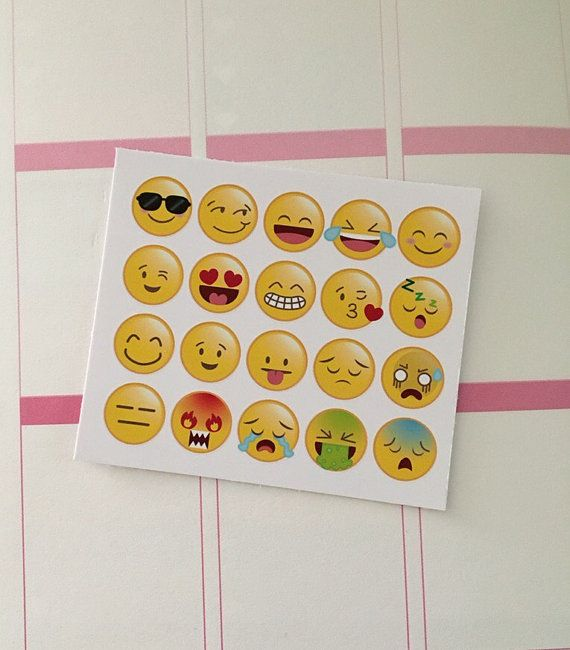 Track your daily mood with these fun emoji stickers Printed on matte vinyl sticker paper Clip art by https://www.etsy.com/uk/shop/CeliaLauDesigns