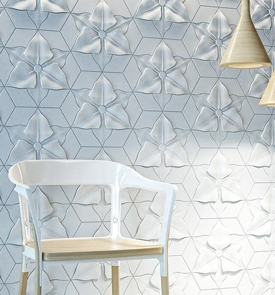 Fiber cement 3d wall tile florentin by kaza concrete for 3d concrete tiles