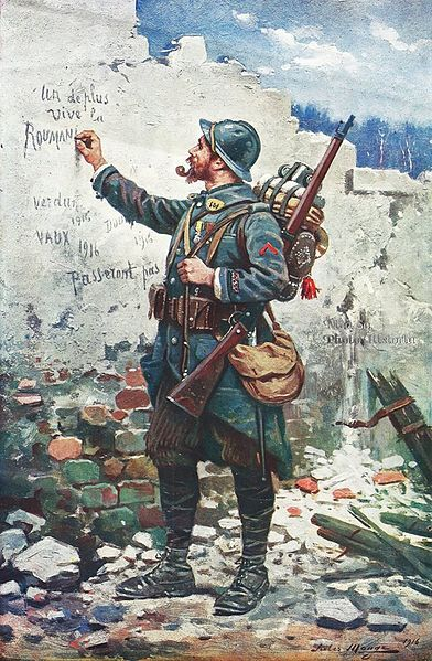 "WWI, 1916; ""Vive la Roumanie""- Jules Monge"