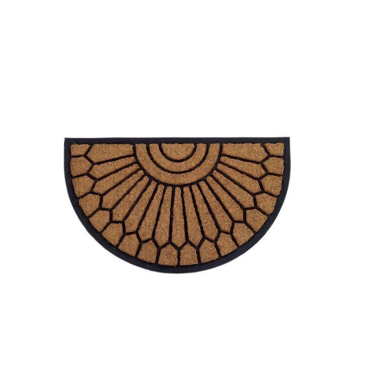 Coral Tapete de Entrada Caucho y Fibra de Coco - Negro/Natural