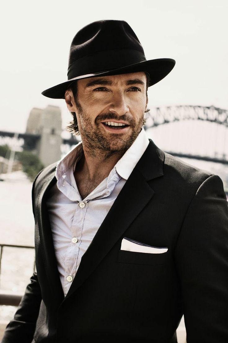 Hugh in a hat...