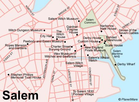Setting This Map Of Salem Massachusetts Shows All The