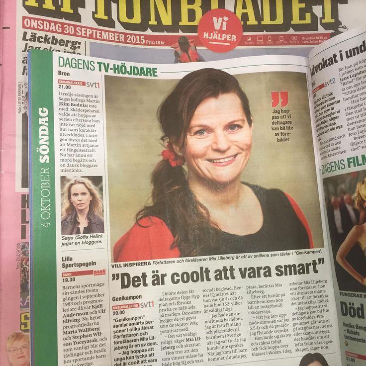 Veckans Tv-bilaga Aftonbladet #författare #föreläsare #genikampen #svt #särbegåvade #inspiration #uppgradera