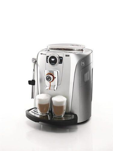 Saeco Talea Giro Plus Automatic Espresso Machine by Saeco. $859.99. Perfect ExpressoEspresso technology: Saeco adapting system, Aroma-system: pre-brewing, SBS: creme adaptor, Cup warmer Technical dataBoiler: Stainless steel Frequency: 60 Hz Power: 1400 W Voltage: 120 V Pump Pressure: 15 bar Weight and dimensionsCoffee bean capacity: 250 gr Dump box capacity: 14 servings Water tank capacity: 1,7 l Easy to useCleaning and maintenance: Automatic coffee circuit rinse, Automatic m...