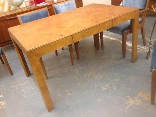 Henredon Scene Two Burled Wood Dining Table on Sale - $487 | Mid ...