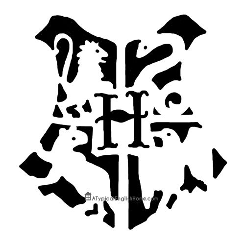 Harry Potter Hogwarts Pumpkin Stencil.